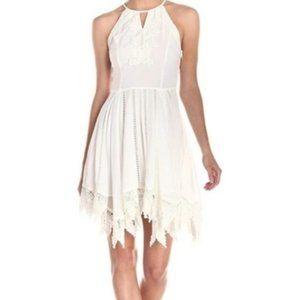 Anthro Greylin Miranda Hanky White Lace Dress